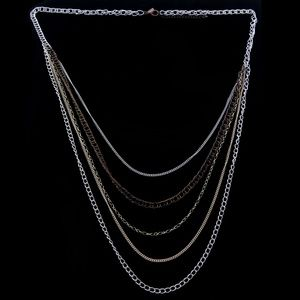 Lane Bryant Long-Necklace Silver & Multicolor NWOT